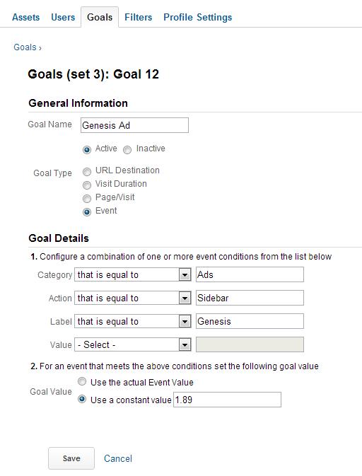 Đo lường hiệu quả của quảng cáo trong Google Analytics